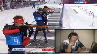 Дмитрий Губерниев гонит Шипулина к финишу