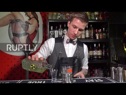 Sting in the cocktail! 'Novichok' cocktails prepped for English fans