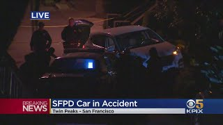 SFPD Car Involved In Accident In Twin Peaks Neighborhood