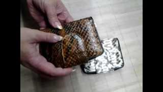Видеообзор // Кошелек, монетница из кожи питона // Элитная экзотическая кожа на dundee-shop.com