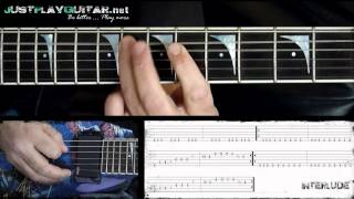 [ ARCH ENEMY - Nemesis ] How to play part 2/2 [ free guitar lesson ] with tabs