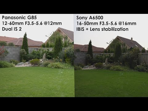 Sony A6500 vs. Panasonic G85 - Image Stabilization Comparison 4K