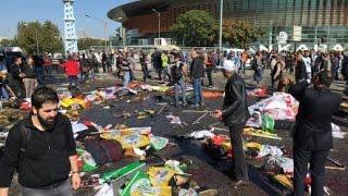 شاهد لحظة انقاذ ضحايا انفجار انقرة (تركيا) وانتشال الجثت من الارض I فيديو جديد