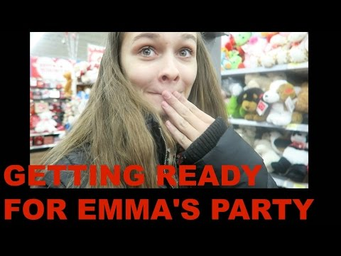 GETTING READY FOR EMMA'S PARTY