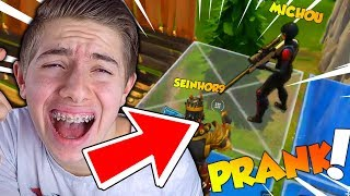 JE ME SUIS ENCORE FAIS PRANK EN PLEIN TOP 1 SUR FORTNITE BATTLE ROYALE !!! (Ft. Seinhor9)