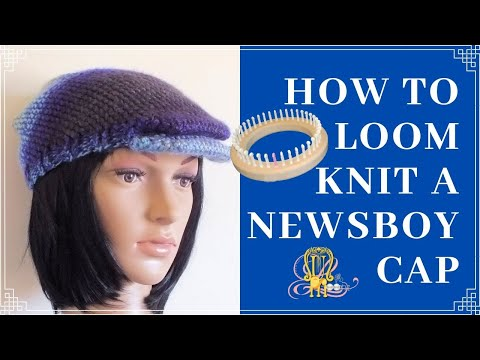 How to Loom Knit Flat Cap