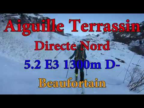Aiguille de Terrassin, Directe Nord, 5.2 (E3) - Beaufortain