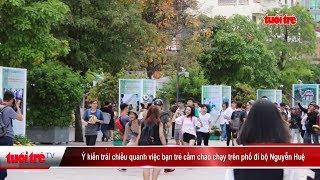 Ý kiến trái chiều quanh việc bạn trẻ cầm chảo chạy trên phố đi bộ Nguyễn Huệ | Truyền Hình Tuổi Trẻ