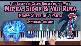 Zelda Breath Of The Wild Mipha Sidon Vah Ruta Piano Medley W Synthesia