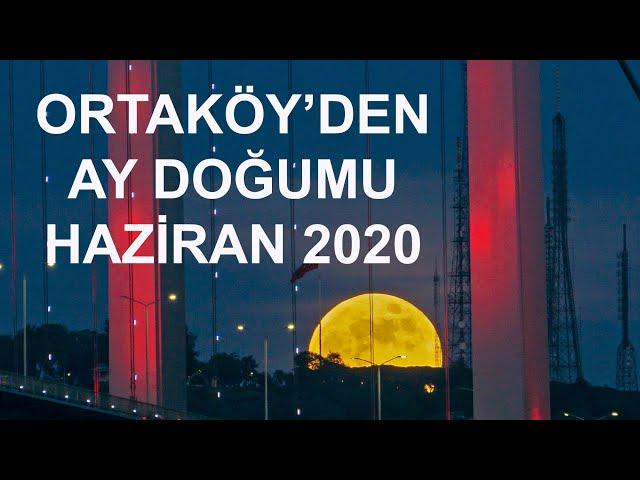 Ortaköy'den AY Doğumu - İstanbul / Moonrise in the Bosphorus
