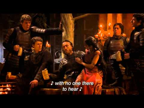 GOT  Bronn and Lannisters soldiers singing The Rains of Castamere