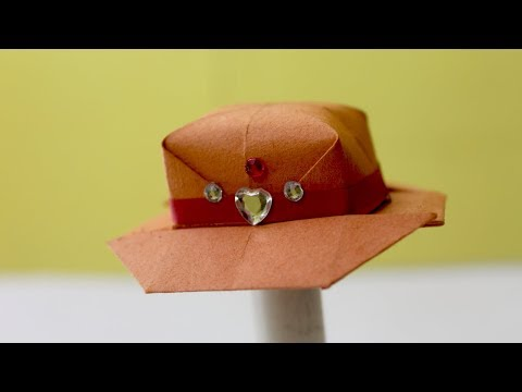 Origami Cowboy Hat - Paper Hat Origami | How To Make Paper Hat | DIY Paper Hat