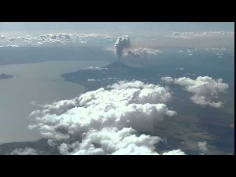 Momotombo Volcano in Nicaragua Erupting From The Air