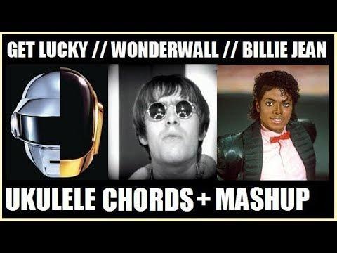 Get Luckywonderwallbillie Jean Ukulele Mashupchords Youtube