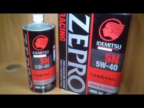 Моторное масло Idemitsu Zepro Racing SN 5W-40. Обзор.
