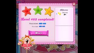 Candy Crush Saga Level 483 ★★★ NO BOOSTER