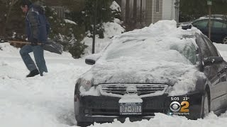 Long Island Residents Continue To Dig Out From Saturday's Storm