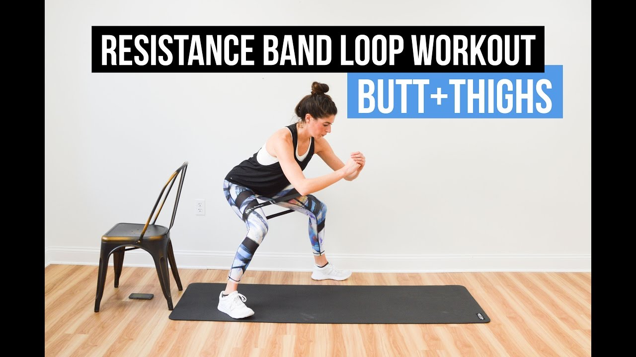 Resistance Band Loop Superset Workout For Butt Thighs Youtube