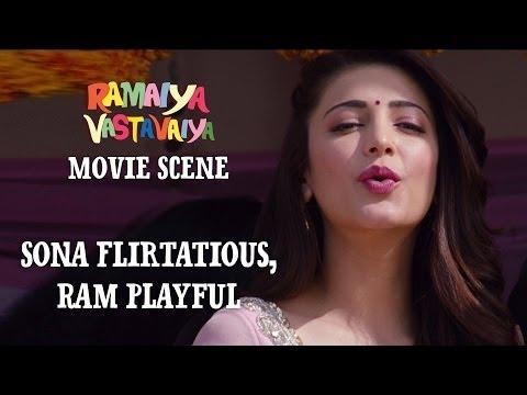 Sona Flirtatious, Ram Playful - Ramaiya Vastavaiya Scene - Girish & Shruti