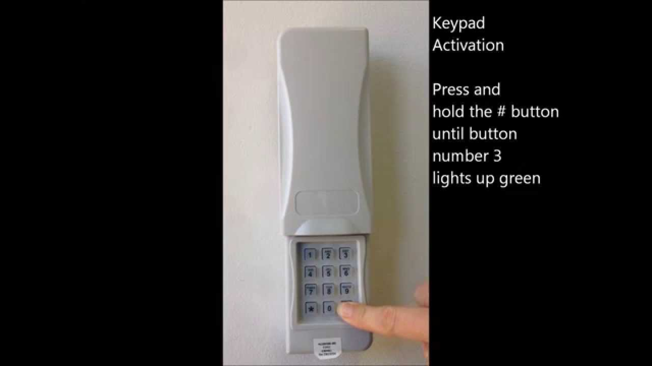 keypad programming direct drive garage door opener