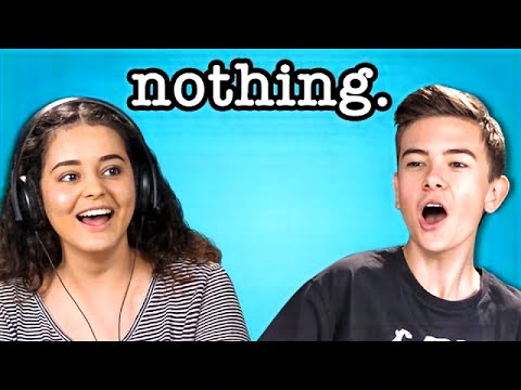 teens react to nothing.