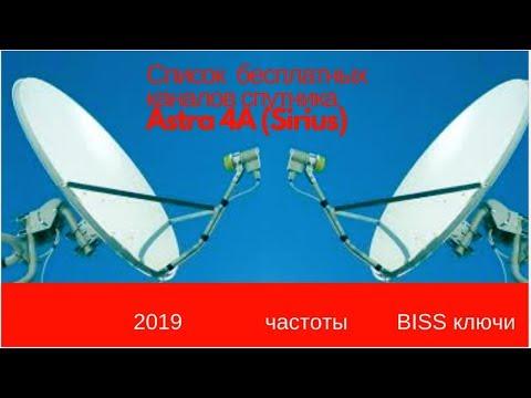 Телеканалы на спутнике: (Sirius)Astra 4A частоты BISS !!!