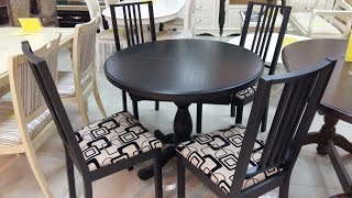 Стол кухонный круглый купить. Стол обеденный раскладной К-3 + стулья Бук.(, 2016-09-22T11:07:12.000Z)