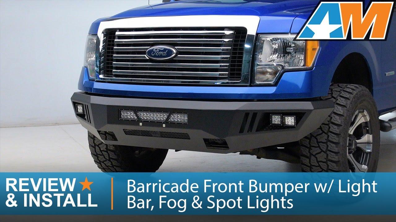 2009  Barricade Extreme Hd Front Bumper W Light Bar Fog Spot Lights Review Install