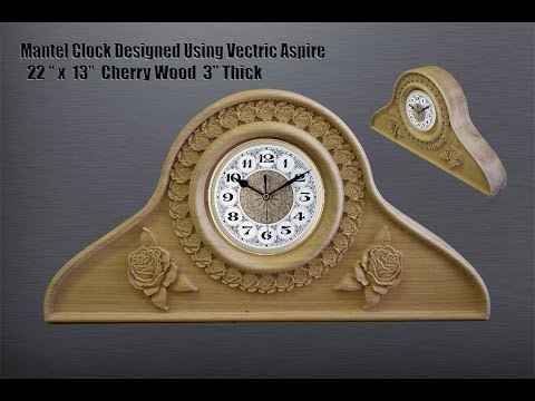 Vectric Designed Mantel Clock 3