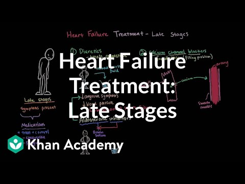 Heart Failure Treatment - Late Stages | Circulatory System And Disease | NCLEX-RN | Khan Academy