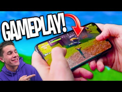 Download Youtube: FIRST GAMEPLAY of Fortnite Battle Royale MOBILE! The FUTURE of Mobile Gaming?