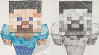 How to draw Minecraft - Steve [explained]