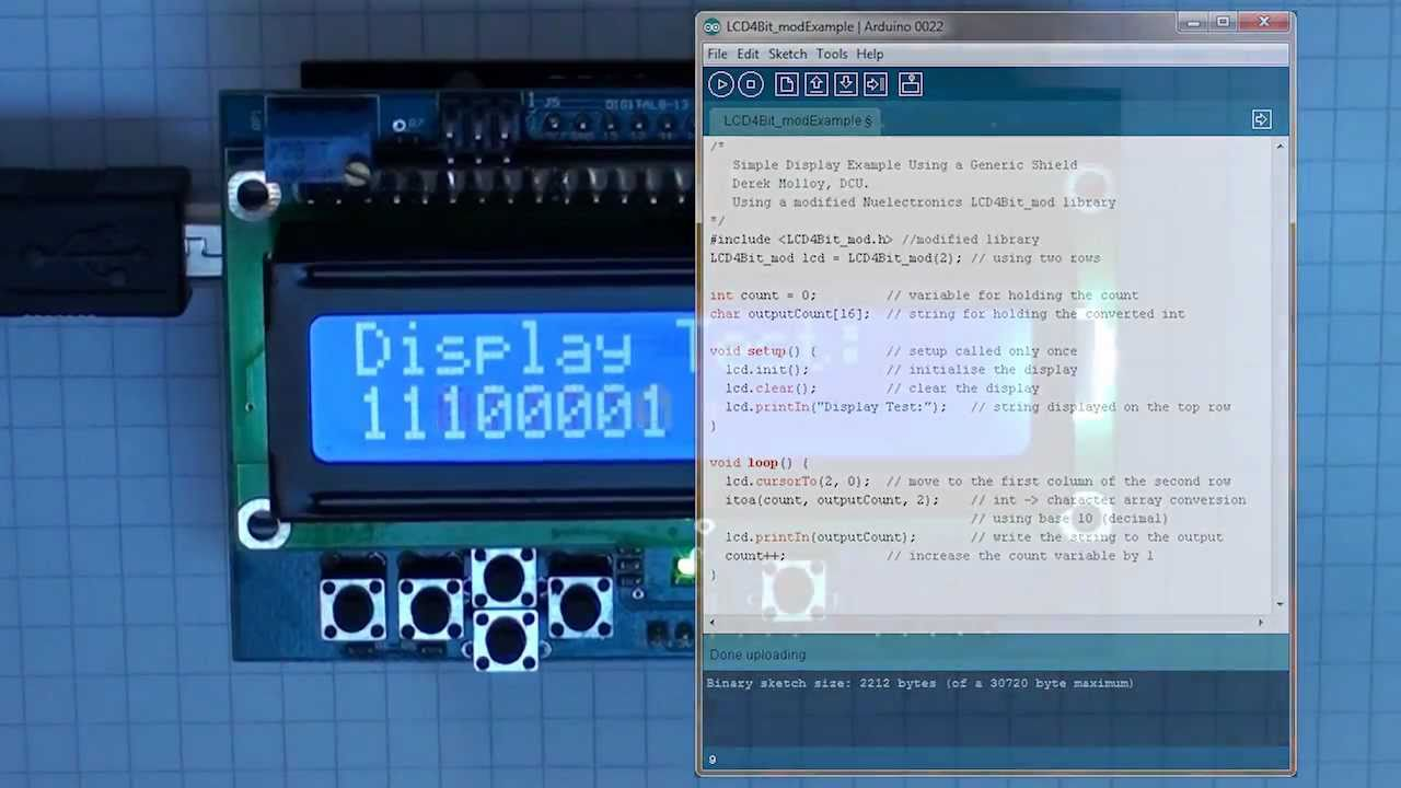 Tutorial 14 Arduino Lcd Thermometer Circuit And Sketch