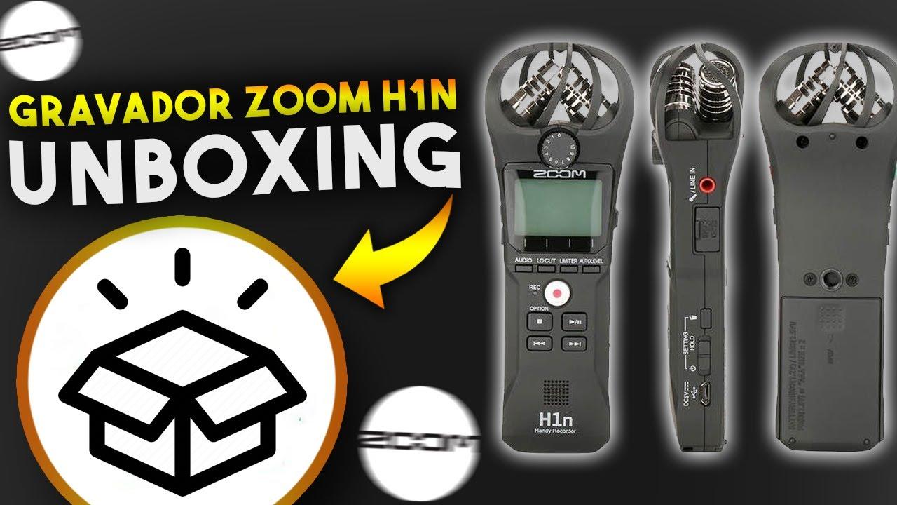 Gravador Zoom H1N - Unboxing e primeiras impressões