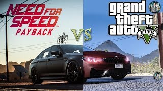 NFS: Payback Remake in GTA: 5 (BMW M5) Side by side - Graphics Comparision NEW 2017!