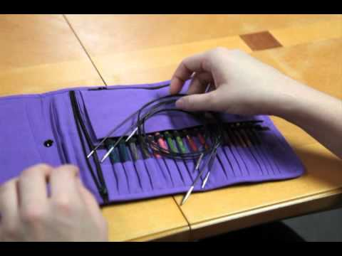 Knitters Pride Fabric Interchangeable Needle Case Review Youtube