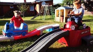 горки томас и его друзья и art flyer паровозик развлечения для детей thomas and friends for kids