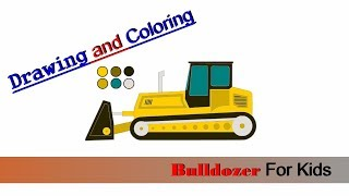 Drawing Bulldozer For Kids Coloring pages