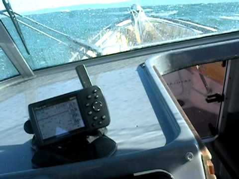 Offshore in small boat