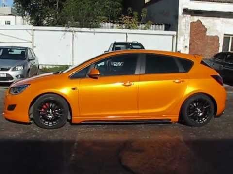 Candy Orange Opel Astra J - Vinyl Wrapping