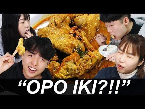 Image of Mahasiswa Korea pertamakali coba gulai ayam! #1