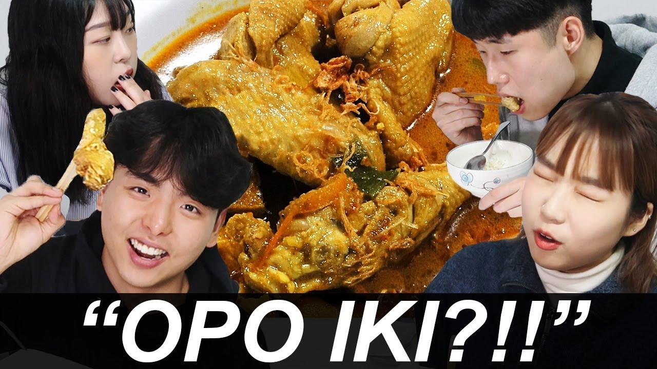 Mahasiswa Korea pertamakali coba gulai ayam! #1