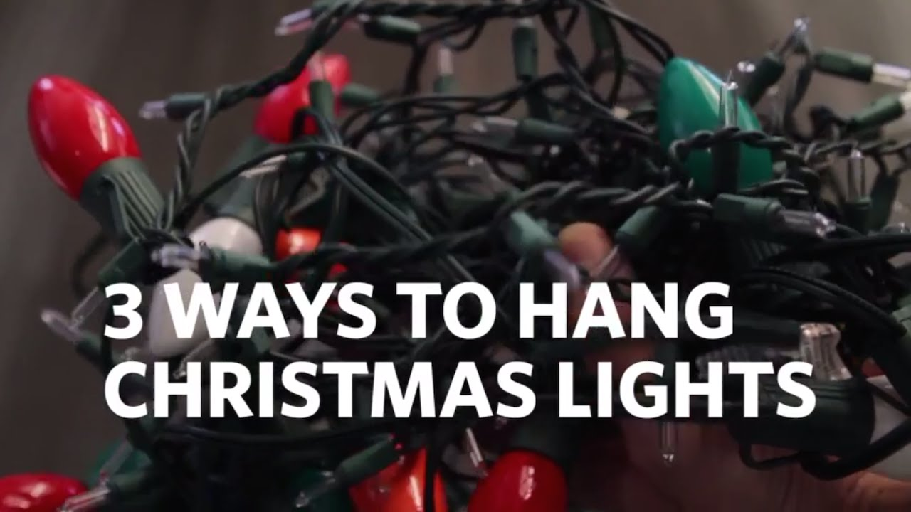 How to Hang Christmas Lights on your House! 3 Different Ways - YouTube