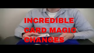 Card Trick: Changes performance