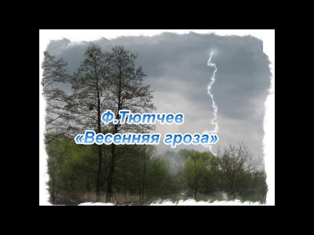 Изображение предпросмотра прочтения – МихаилОкунев читает произведение «Весенняя гроза (Люблю грозу вначале мая…)» Ф.И.Тютчева
