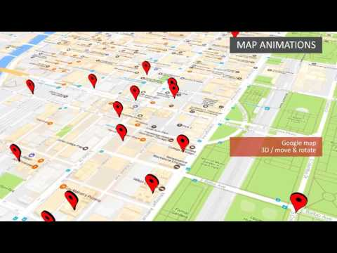 Map animation example: downtown Chicago