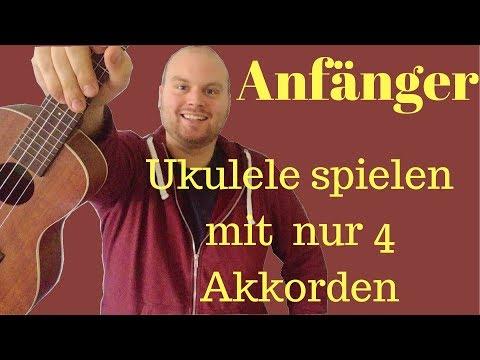 Ukulele lernen in 5 Minuten || Ukulele tutorial || Mit 4 Akkorden hunderte Lieder spielen