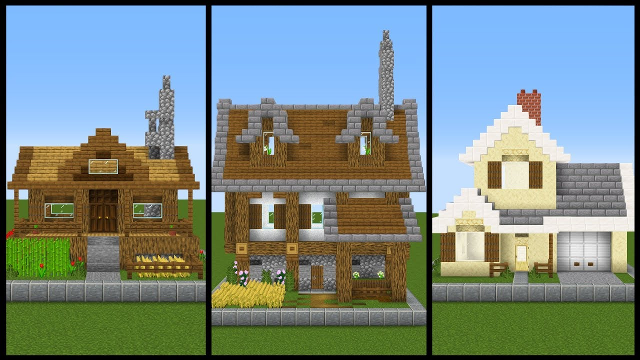 5 Simple One Chunk Minecraft House Designs Youtube