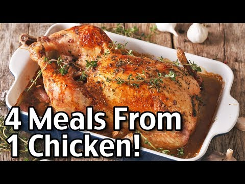 Leftover Rotisserie Chicken Recipes! 4 Meals From One Chicken!