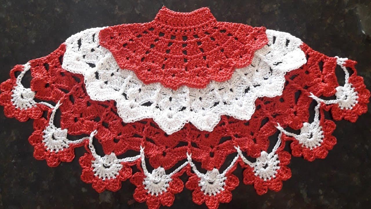 Saia De Croche Para Pano De Prato Saiadecroche Panodeprato Croche Crochet Youtube Panos De Cozinha De Croche Croche Pano De Prato Croche